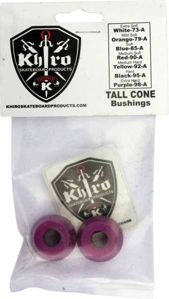 Khiro Tall Cone Bushing Set 99A X-Hard Purple