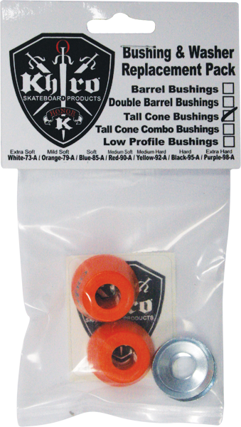 Khiro Tall Cone Bushing/Wash Kit 79A Mild-Soft Org