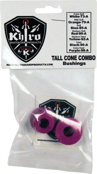 Khiro T-Cone/L-Barrel Bushing Set 99A X-Hard Purp