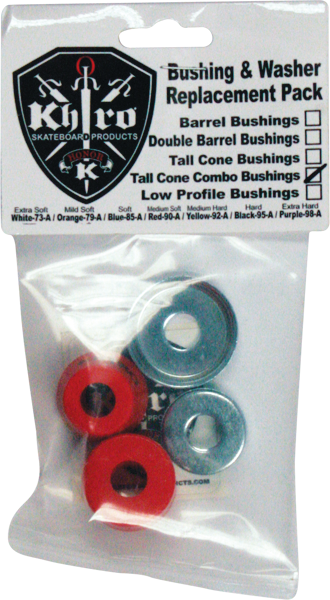 Khiro T-Cone/L-Brl Bushing/Wash Kit 90A Med Red
