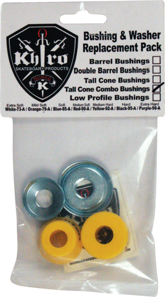 Khiro T-Cone/L-Brl Bushing/Wash Kit 92A M-Hard Yel