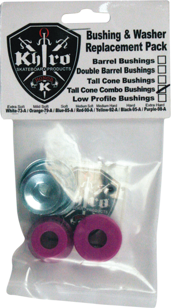 Khiro T-Cone/L-Brl Bushing/Wash Kit 99A X-Hard Pur
