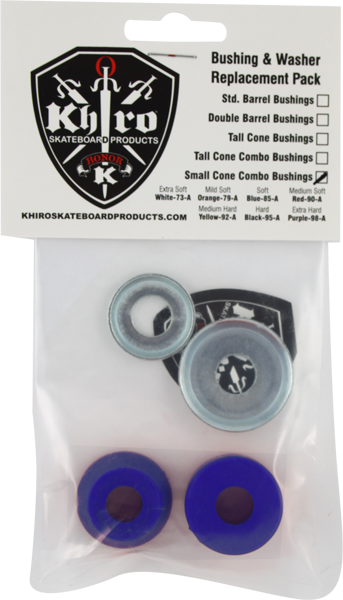 Khiro S-Cone/L-Brl Bushing/Wash Kit 85A Soft Blu