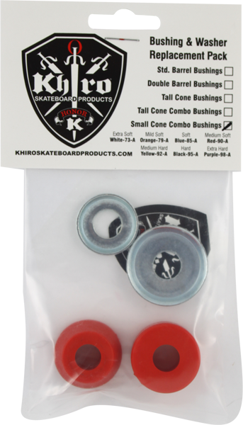 Khiro S-Cone/L-Brl Bushing/Wash Kit 90A Med Red