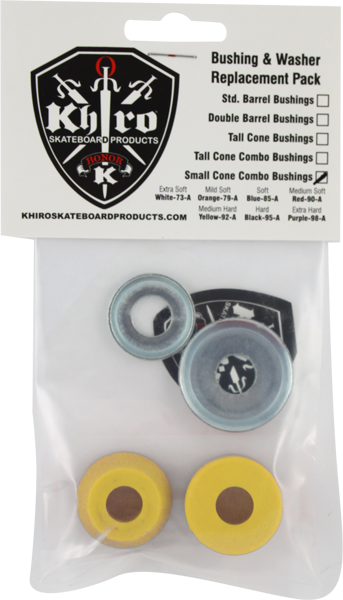 Khiro S-Cone/L-Brl Bushing/Wash Kit 92A M-Hard Yel