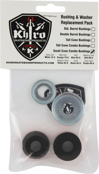 Khiro S-Cone/L-Brl Bushing/Wash Kit 95A Hard Blk