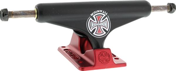 Inde Std 129Mm Forged Titanium Truck Blk/Red