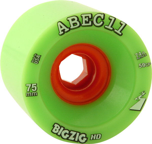 Abec11 Bigzig Hd 75Mm 74A Lime/Org