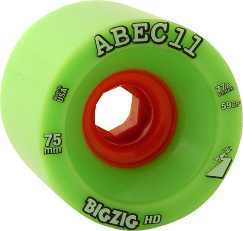 Abec11 Bigzig Hd 75Mm 77A Lime/Org