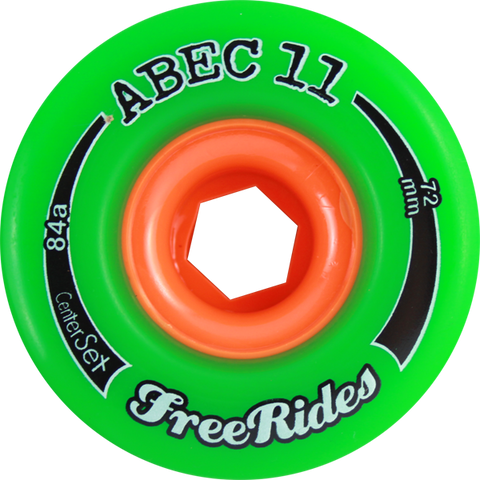 Abec11 Freeride Centerset 72Mm 81A Green