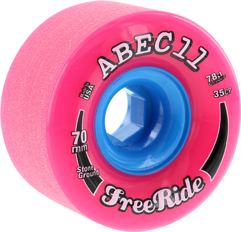Abec11 Freeride Stone Ground 70Mm 78A Pink/Blu