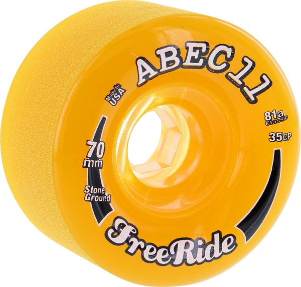 Abec11 Freeride Stone Ground 70Mm 81A Amber/Clr