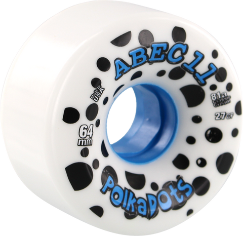 Abec11 Polka Dots 64Mm 81A Wht/Blue