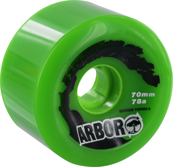 Arbor Biothane 70Mm 78A Green Sale