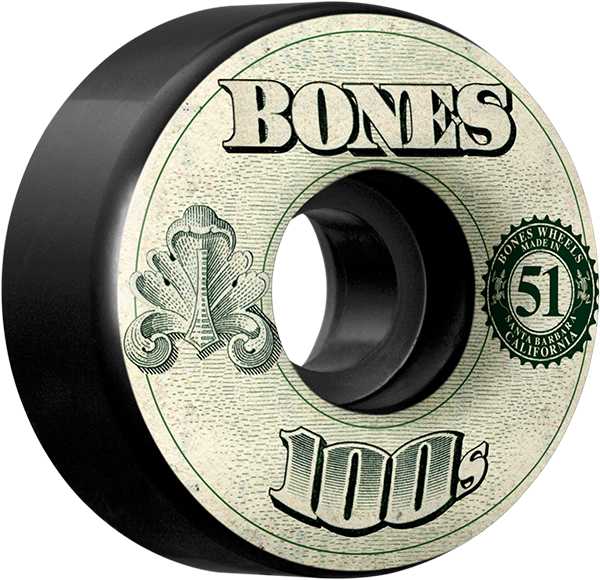Bones 100'S Og #11 51Mm Black W/Money Ppp