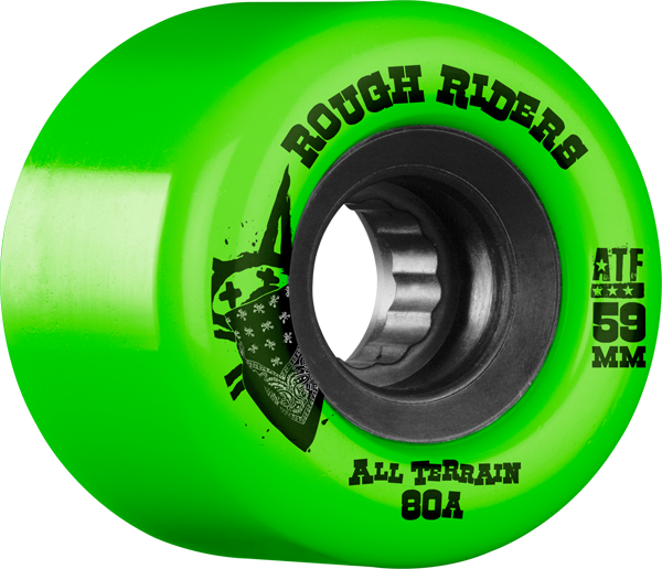 Bones Atf Rough Rider 59Mm 80A Grn/Blk