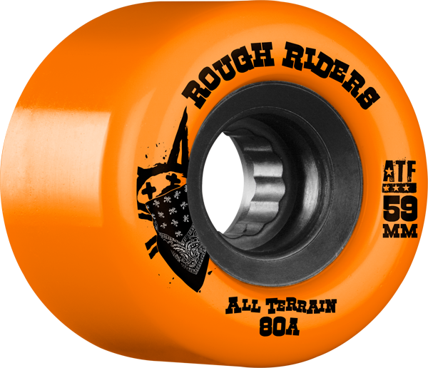 Bones Atf Rough Rider 59Mm 80A Org/Blk