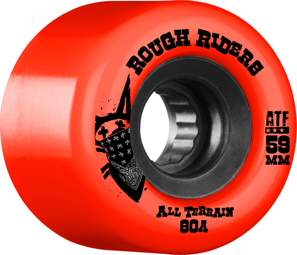 Bones Atf Rough Rider 59Mm 80A Red/Blk