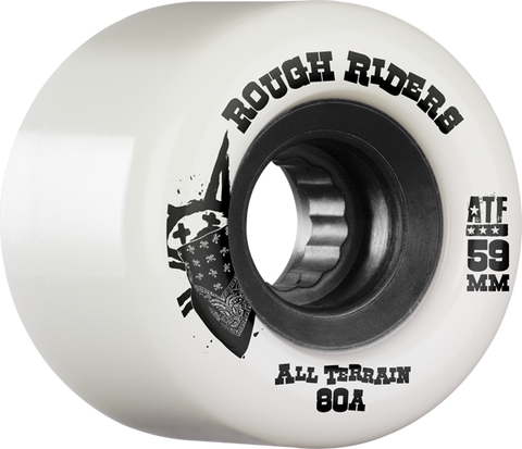 Bones Atf Rough Rider 59Mm 80A Wht/Blk