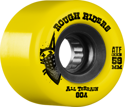 Bones Atf Rough Rider 59Mm 80A Yel/Blk