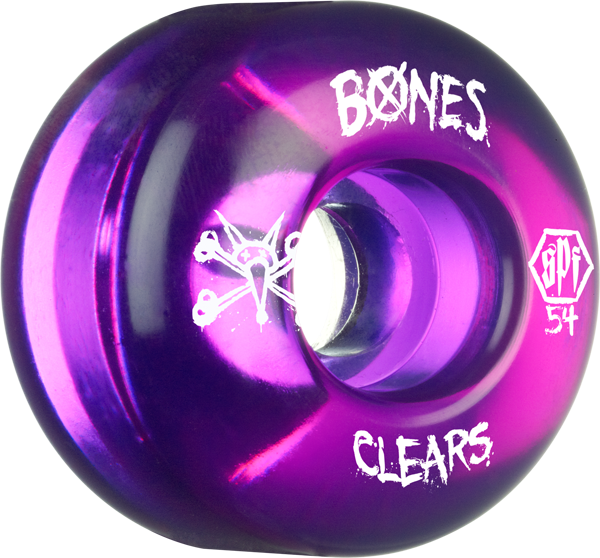 Bones Spf Clears 54Mm Clear Purple