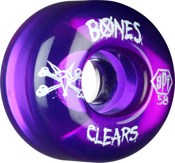 Bones Spf Clears 58Mm Clear Purple