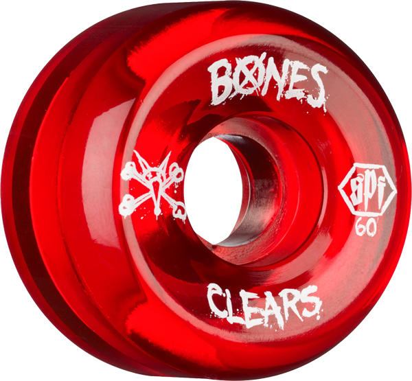 Bones Spf Clears 60Mm Clear Red