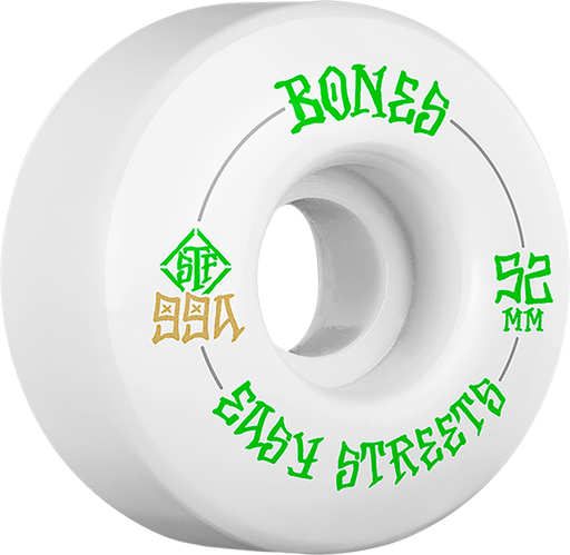 Bones Stf V1 Easy Streets 52Mm White/Grn