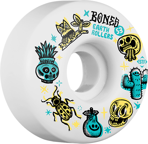 Bones Stf Earth Rollers V1 53Mm White