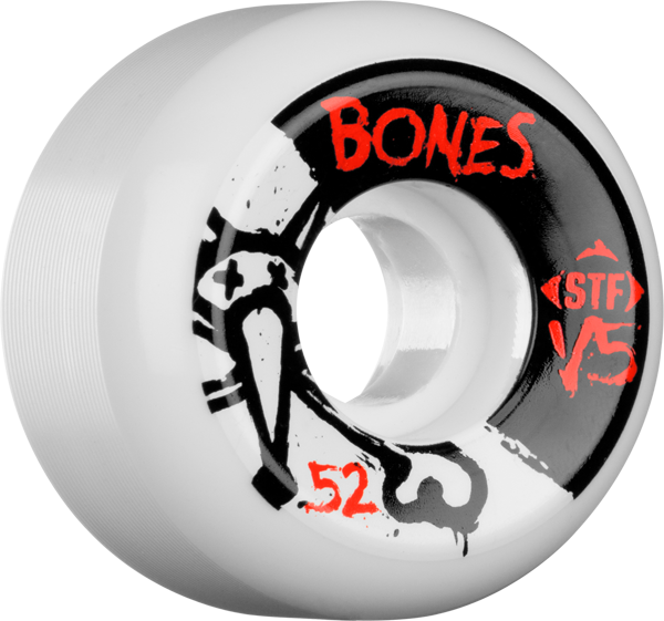 Bones Stf Sidecut V5 Series 52Mm White