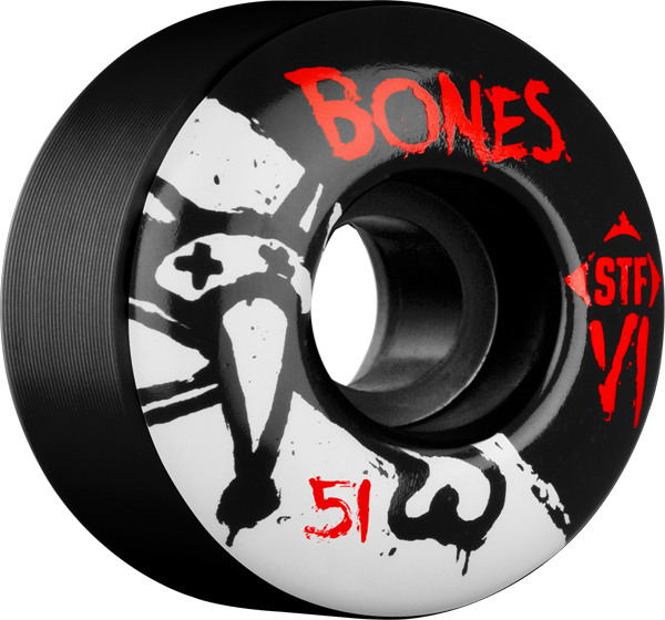 Bones Stf Skinny V1 Series 51Mm Black