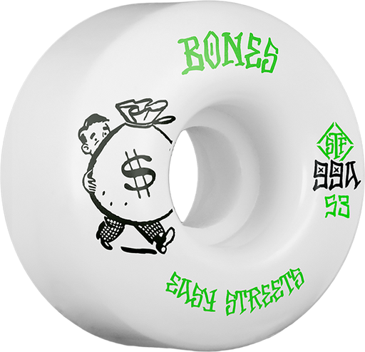 Bones Stf Easy Streets Standard Money 53Mm Wht/Grn