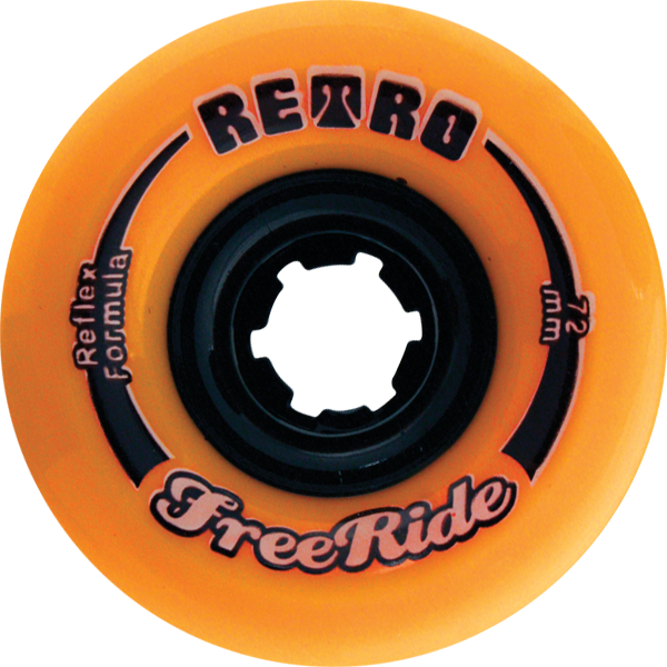 Retro Freeride 72Mm 89A Orange Plus