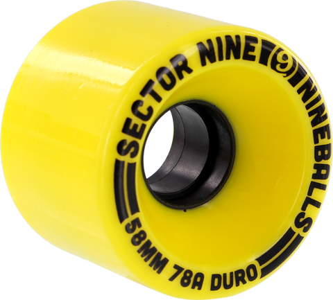Sec9 9 Ball 58Mm 78A Solid Yellow