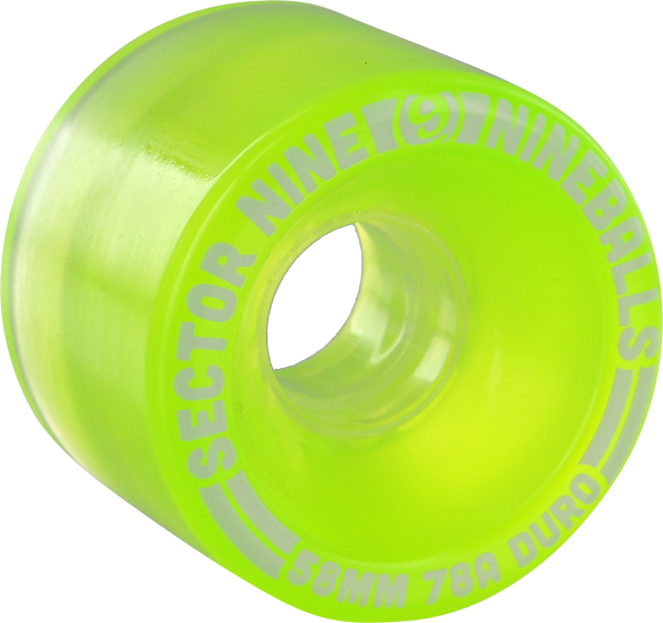 Sec9 9 Ball 58Mm 78A Clear Lime