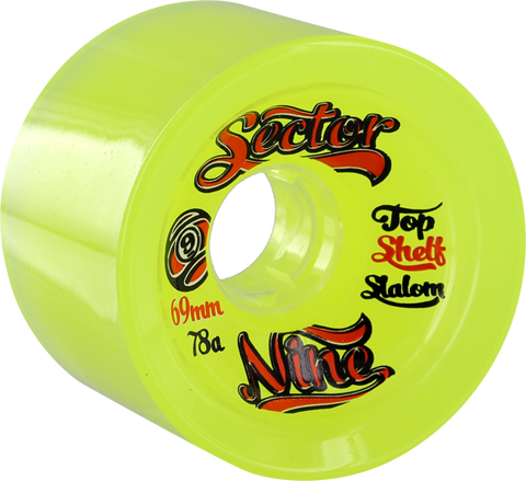 Sec9 9Ball Topshelf Slalom 69Mm Lime Yel/Org 78A