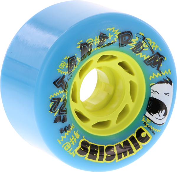 Seismic Tantrum 72Mm 80A Blue/Yel