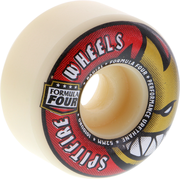 Sf Formula 4 101A Radials 52Mm Wht W/Red/Gold