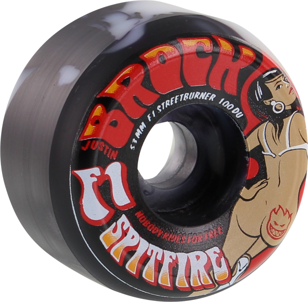 Sf Brock F1sb Ass Cash Or Grass 53Mm Swirl Blk/Wht