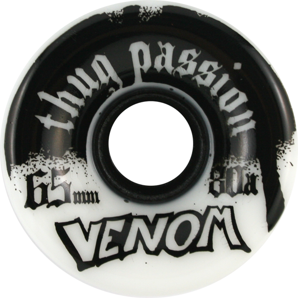 Venom Thug Passion 65Mm 80A Wht/Blk