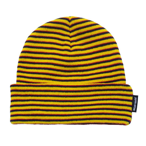 FA Striped Cuff Beanie - Navy/Orange