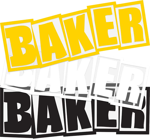 Baker Brand Logo Fa20 12/Pack Assorted Decals