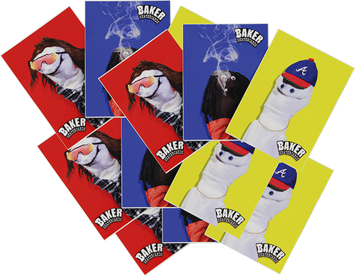 Baker Sock Puppets 12/Pack Assorted Decals