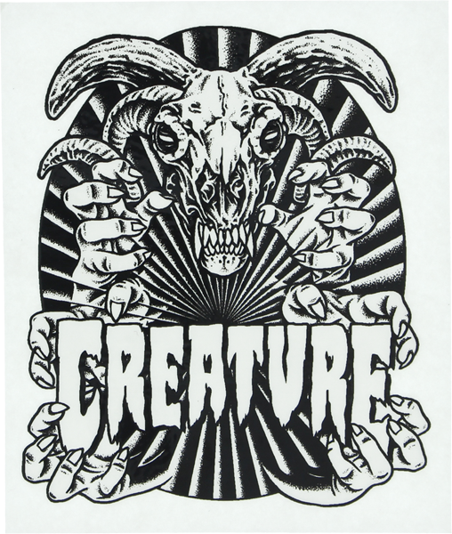 "Creature Ceremoney Decal 4""X4.75"""