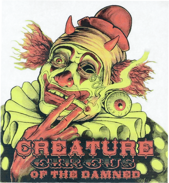 "Creature Circus Of The Damned Decal 3.5""X3.875"""