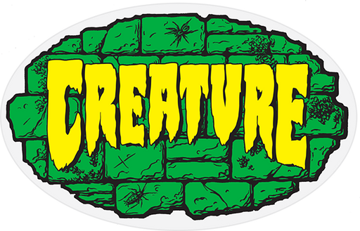 "Creature Crypt Decal 4""X2.5"" Grn/Blk.Yel"