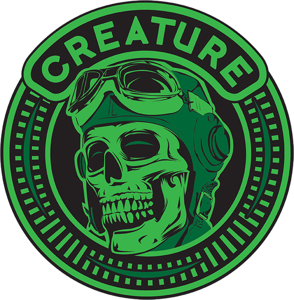 "Creature Die High Decal 3.5""X3.5"""