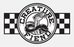 "Creature Strike Fast 3"" Decal Wht/Blk/Check"