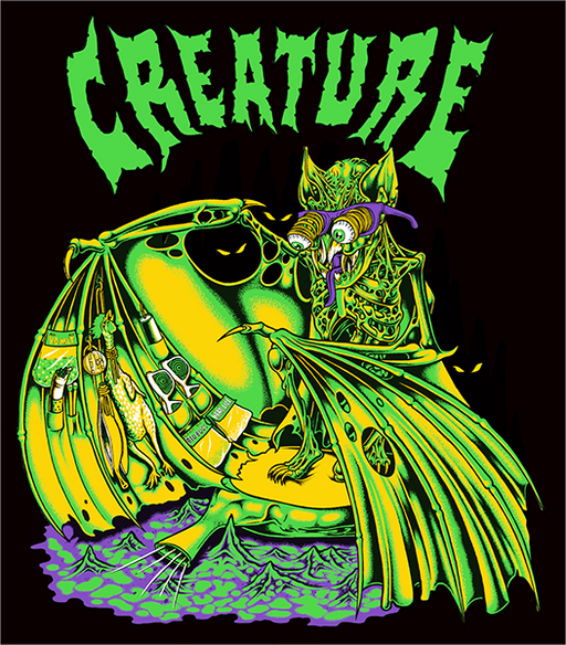 "Creature Trader Decal 4""X3.5"""