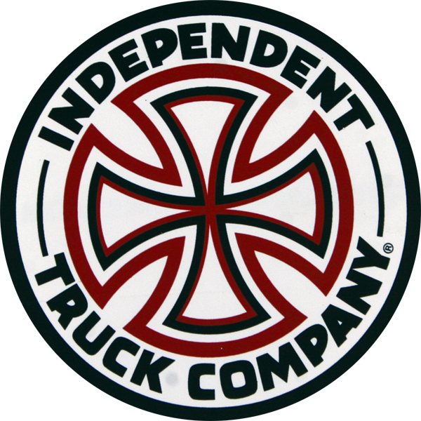 "Inde Red/White Cross 3"" Decal Single"